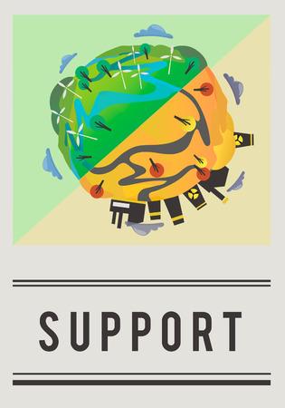 Salva il mondo Terra Earth Concept Archivio Fotografico - 80376130