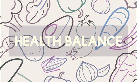 건강한 먹거리 라이프 스타일 유기농 웰빙 그래픽 스톡 콘텐츠