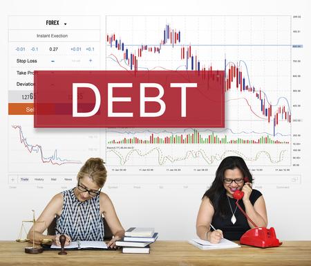 Debt Finance Bill Interest Loan Owed Payment Reklamní fotografie