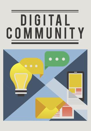 소셜 미디어는 온라인 커뮤니티 연결입니다.