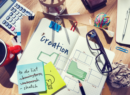 Design Results Creative Ideas Objective Planning Stock Photo