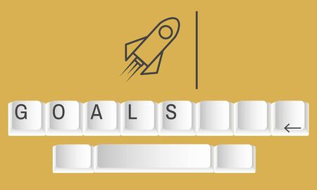 Business Rocket Keyboard Launch Icon Word