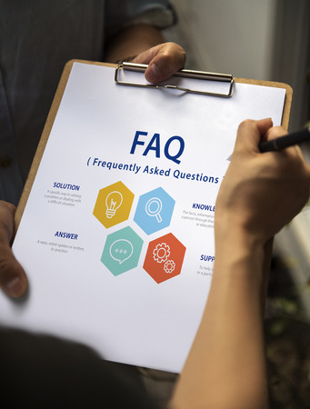 Frequently Asked Question Information Reponse Stok Fotoğraf - 80391591