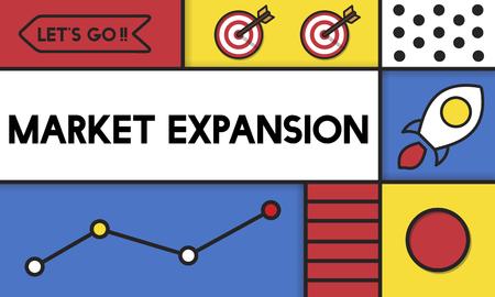 시장 확장 성장 새로운 비즈니스 단어