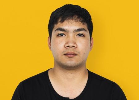 Asian man casual studio portrait