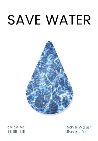 Saving water concept 版權商用圖片