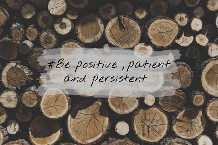 Positive Patient Persistent Optimistic Mindset Stock fotó