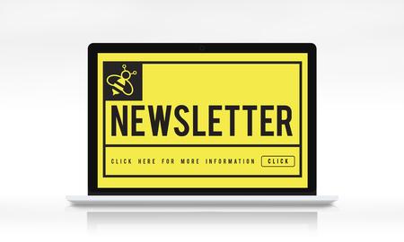 Hot News Newslatter Social Concept Stock Photo