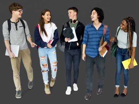 spolužák: Skupina různých studentů středních škol Studio Portrét