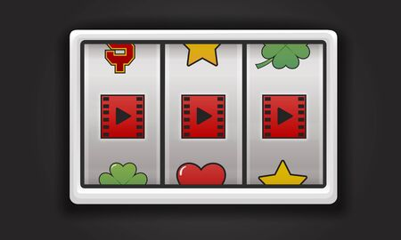 Slot Machine Game Music Symbols Banco de Imagens