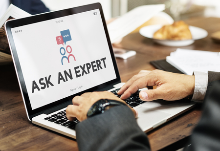 Ask An Expert After Sale Information Stock Photo