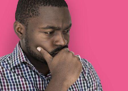 アフリカ系の男は、緊張感 写真素材 - 80417193