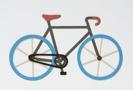 自転車に乗って運動活動のイラスト