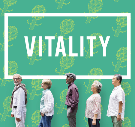 recover: Natural Vitality Reviving Graphic Design Word Stock Photo