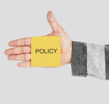 policy Position Regulation Strategy Word Banco de Imagens - 80354969