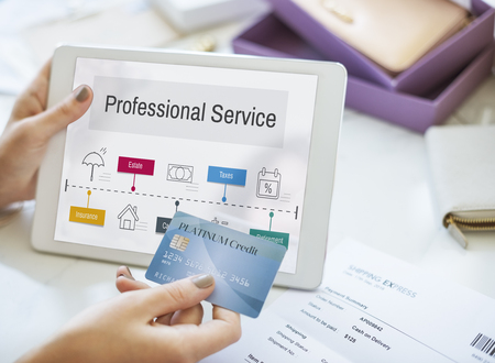Investissement professionnelle planification financière de services Banque d'images - 80376225