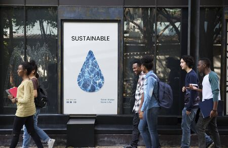 drops of water: Save the Planet Sustainable Ecology Concept