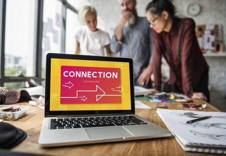 Connection Technology Networking Online Word Imagens