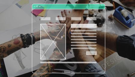 Internet Template User Interface Web Design Stok Fotoğraf