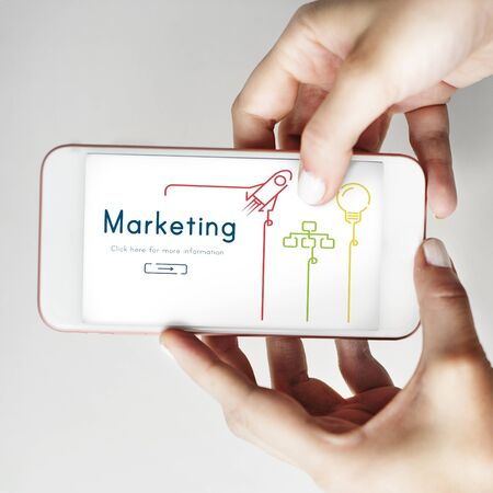 Marketing Branding Business Strategy Planning Stock Photo