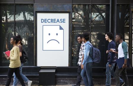 Tristesse fail problème récession récession frustration icône Banque d'images - 80376563