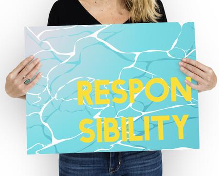 Morality Principle Virtueel Water Grafisch Woord Stockfoto