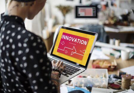 혁신 현대 기술 개발 단어