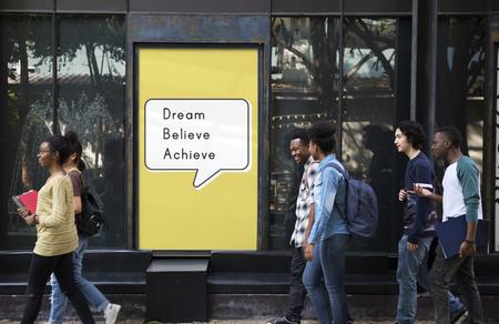 Dream Believe Bereiken Aspiratie Motivatie Visie Stockfoto
