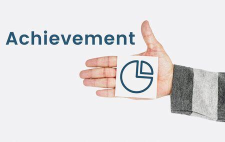 Achievement Perfomance Pie Chart Concept