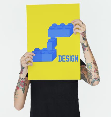 빌딩 블록 구조 디자인 그래픽