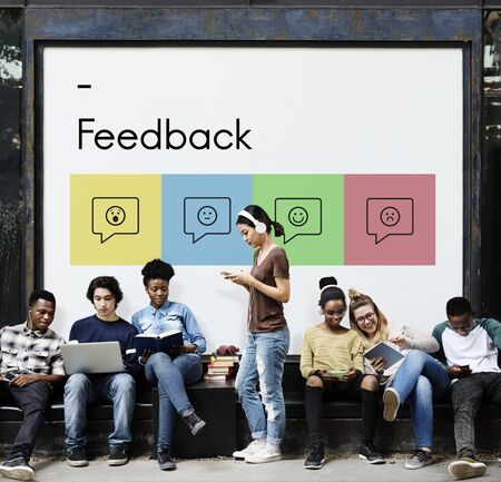 Feedback Response Evaluation Survey Report Stok Fotoğraf - 80376923