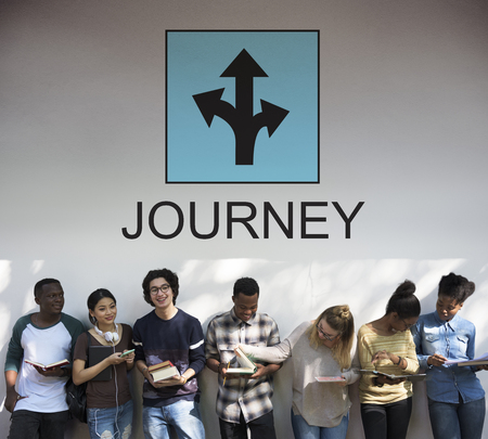 People with journey concept Stock Photo