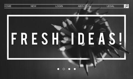 Creativiteit Inspireer Minimalistiek Idee Grafisch Woord Stockfoto