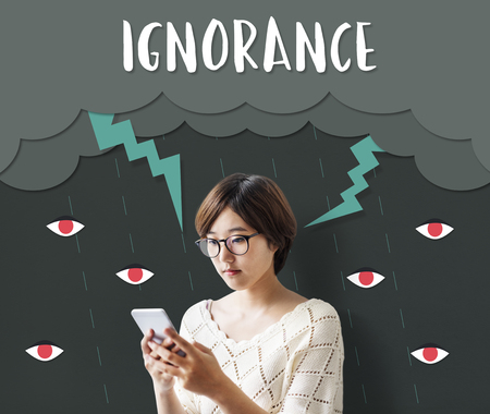 Concetto di Ignorance Animosity di Odio Frustrazione Archivio Fotografico - 80377811
