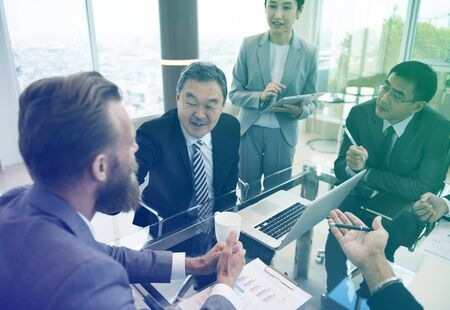 Business people meeting in the office Stock Photo