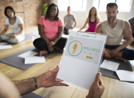 Wellness Diet Plan Healthy Living Icon Stock Photo