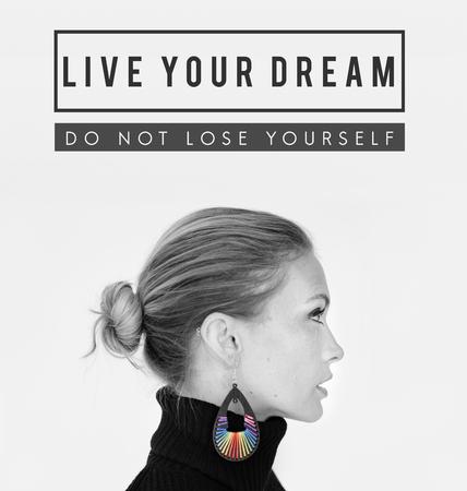 감동적인 꿈의 당신의 꿈 인용 스톡 콘텐츠