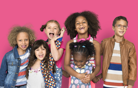Happy multiracial children Stock Photo