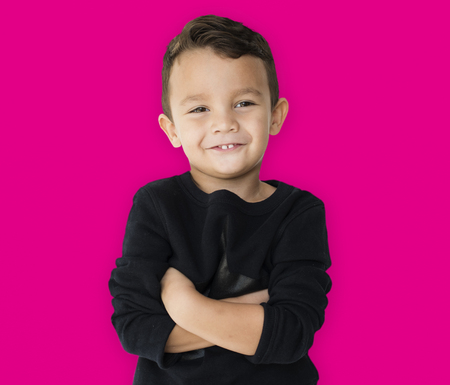 A little boy is really confidence Stock Photo - 80390964
