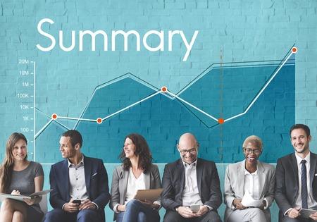 企業のビジネス ライン グラフ レポート 写真素材 - 80417397