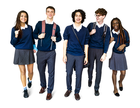 Group of Diverse High School Students Studio Portrait Stock Photo