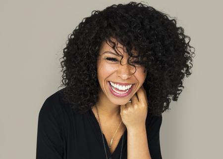 Adult woman smiling studio portrait Reklamní fotografie