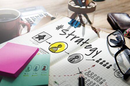 Strategie Oplossing Missie Operatie Planning Stockfoto