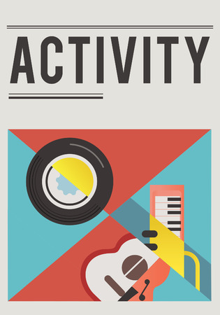 Illustratie van muziek audio passie vrije tijd activiteit