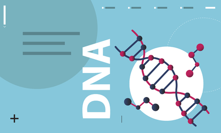 Dna strand genetics science graphic