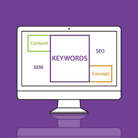 Keywords Content Concept SEO SEM Word Diagram Stok Fotoğraf
