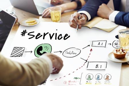 Service à la clientèle service de satisfaction résolution résolution Banque d'images - 80620097