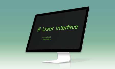 Cmputer Screen Show about Hashtag User Interface Word 版權商用圖片