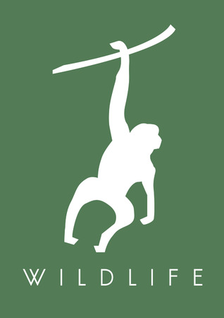 Wildlife poster design Фото со стока