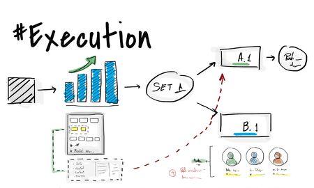 Business Process Goals Target Success Graph Stock Photo